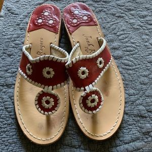 Red Jack Rogers size 8